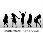 vector silhouette of a people... | Shutterstock .eps vector #194472968