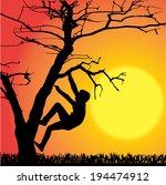 vector silhouette of children...   Shutterstock .eps vector #194474912