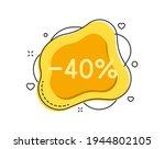 40 percent color bubble shape...   Shutterstock .eps vector #1944802105