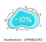 10 percent color bubble shape...   Shutterstock .eps vector #1944802192