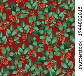 seamless christmas pattern with ... | Shutterstock .eps vector #1944802615