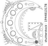 vector letter g coloring book.... | Shutterstock .eps vector #1944813178