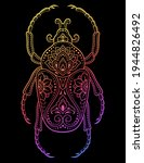 bug decorated with indian... | Shutterstock .eps vector #1944826492