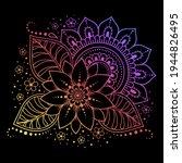 mehndi flower pattern for henna ... | Shutterstock .eps vector #1944826495