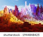 3d render of an abstract cube... | Shutterstock . vector #1944848425