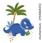 cute dinosaur illustration as... | Shutterstock .eps vector #1944868252