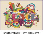 peace psychedelic poster ...   Shutterstock .eps vector #1944882595