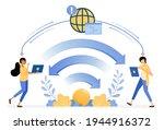banner vector design of wifi...