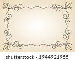 decorative frame. vintage... | Shutterstock .eps vector #1944921955