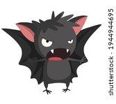 Icon Halloween Bat. Stock...