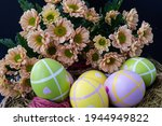 Easter Painted Eggs In The Nest ...
