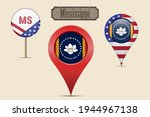 mississippi us state round flag.... | Shutterstock .eps vector #1944967138