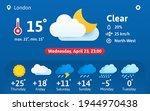 weather forecast widget concept.... | Shutterstock .eps vector #1944970438