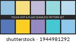 polka dots and plaid seamless...   Shutterstock .eps vector #1944981292