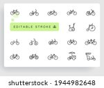 bicycle types vector linear... | Shutterstock .eps vector #1944982648