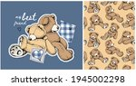 collection of one print and one ... | Shutterstock .eps vector #1945002298