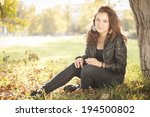 portrait of a beautiful  young... | Shutterstock . vector #194500802