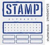 rough stamp stencil font....   Shutterstock .eps vector #1945049725