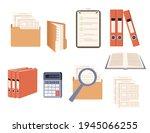 office supplies set hard... | Shutterstock .eps vector #1945066255