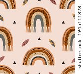 seamless pattern  with tribal... | Shutterstock .eps vector #1945111828