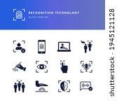 set of glyph icons   biometric... | Shutterstock .eps vector #1945121128