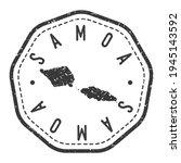 samoa map stamp retro postmark. ... | Shutterstock .eps vector #1945143592