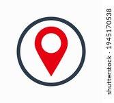 pin map icon design vector.   Shutterstock .eps vector #1945170538