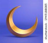 3d illustration of golden... | Shutterstock . vector #1945188085