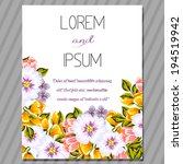 wedding invitation cards with... | Shutterstock .eps vector #194519942