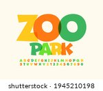 vector colorful sign zoo park.... | Shutterstock .eps vector #1945210198