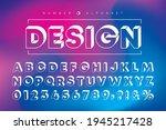 white isometric alphabet letter ... | Shutterstock .eps vector #1945217428