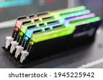 view of rgb computer ram in a... | Shutterstock . vector #1945225942