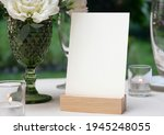mockup white blank space card ... | Shutterstock . vector #1945248055