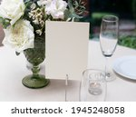 mockup white blank space card ... | Shutterstock . vector #1945248058