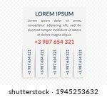 advertisement note template on...   Shutterstock .eps vector #1945253632