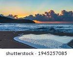 Sunrise Seascape With Cloud...