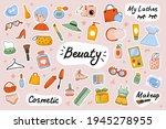 beauty cute stickers template... | Shutterstock .eps vector #1945278955