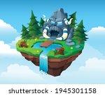 isometric fantastic forest... | Shutterstock .eps vector #1945301158