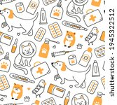 veterinary seamless pattern... | Shutterstock .eps vector #1945322512