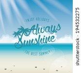abstract summer vacation...   Shutterstock .eps vector #194532275