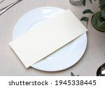 mockup white blank space card ... | Shutterstock . vector #1945338445