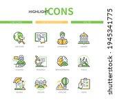 online education   line design...   Shutterstock .eps vector #1945341775