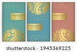abstract set of chocolate bar... | Shutterstock .eps vector #1945369225