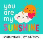 cute sun and cloud cartoon with ...   Shutterstock .eps vector #1945376092