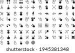 touch gestures icons set. a... | Shutterstock .eps vector #1945381348