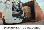 Forklift Driver Loading A...