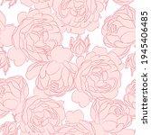 roses seamless pattern  vector... | Shutterstock .eps vector #1945406485