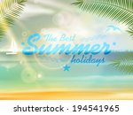 beautiful seaside view poster.... | Shutterstock .eps vector #194541965