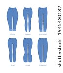 woman jeans. fabric denim blue... | Shutterstock .eps vector #1945430182