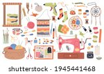 handmade crafts. creative... | Shutterstock .eps vector #1945441468